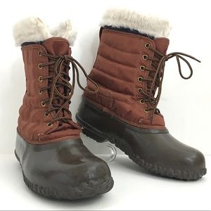 Vintage Sorel Women's snow winter boots brown 9